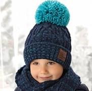 .AJS комплект 38-530 шапка подкл.флис+шарф (р.52-54)