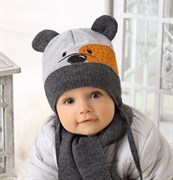 .AJS комплект 38-422 шапка подкл.флис+шарф (р.44-46)
