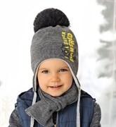 .AJS комплект 38-483 шапка подкл.флис+шарф (р.48-50)