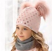 .AJS шапка 38-510 двойная вязка (р.52-54)