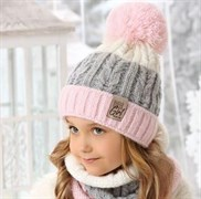 .AJS комплект 38-501 шапка подкл.флис + снуд (р.52-54)