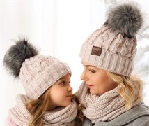.AJS комплект 38-499 шапка подкл.флис + снуд (р.52-54)