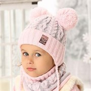 .AJS комплект 38-462 шапка подкл.флис + снуд (р.50-52)