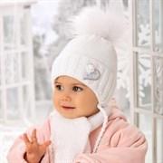 .AJS комплект 38-402 шапка подкл.флис + шарф (р.40-42)