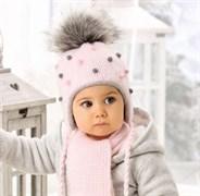 .AJS комплект 38-405 шапка подкл.флис + шарф (р.44-46)