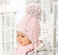 .AJS комплект 38-406 шапка подкл.флис + шарф (р.44-46)