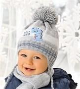 .AJS комплект 38-449 шапка подкл.флис+шарф (р.44-46)