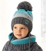 .AJS комплект 38-478 шапка подкл.флис+снуд (р.50-52)