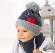 .AJS комплект 38-414 шапка подкл.флис+снуд (р.36-38)