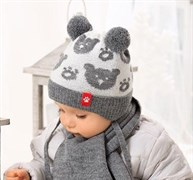 .AJS комплект 38-420 шапка подкл.флис+шарф (р.40-42)