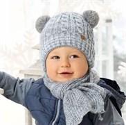 .AJS комплект 38-443 шапка подкл.флис+шарф (р.44-46)
