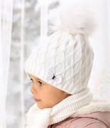 .AJS комплект 38-461 шапка подкл.флис + шарф (р.50-52)