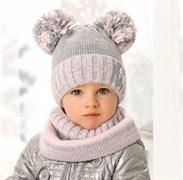 .AJS комплект 38-430/R шапка подкл.флис + снуд (р.50-52)