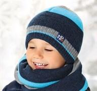 .AJS комплект 38-541 шапка двойная вязка (р.52-54) цвет I