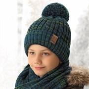 .AJS комплект 38-601 шапка подкл.флис+снуд (р.52-54)
