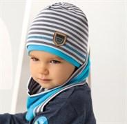 .AJS комплект 38-089 шапка одинарн.трикотаж +снуд (р.52-54)