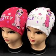anwer шапка двойн. трикотаж для девочки  (р.48-50)