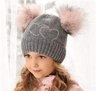 .AJS шапка 38-496  вязка на флисе (р.52-54)