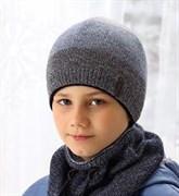 .AJS шапка 38-575  двойная вязка  (р.52-54)