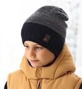 .AJS комплект 38-591 шапка двойная вязка  (р.52-54)