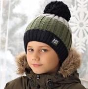.AJS шапка 38-592 шапка двойная вязка (р.50-52)