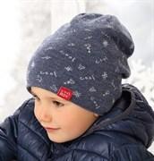 .AJS шапка 38-543 шапка, двусторонняя, двойная вязка (р.52-54)