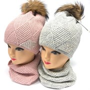 Barbaras модель HV 198/OE к-т: шапка двойная вязка+снуд (р.52-54)