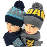 Barbaras к-т модель AV 201/MW шапка вязка х/б подкл.(р52-54) +шарф