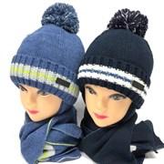 Barbaras к-т модель AV 206/HE шапка вязка на утепл. х/б подкл.(р50-52) +шарф