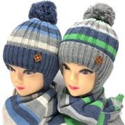 Barbaras к-т модель AV 949/ME шапка вязка на утепл. х/б подкл.(р48-50) +шарф
