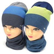 AGBO комплект 2315 Etan  шапка двойн. вязка + снуд (р.48-50)