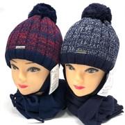AGBO комплект 2354 Emiro 2 шапка с утеплит.подкл.хлопок+шарф (р.50-52)