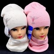 AGBO комплект 2377 Kolia шапка двойная + снуд (р.48-50)