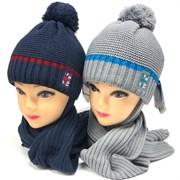 Grans комплект A1003 ST шапка с утеплит.+шарф (р.50-52)