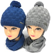 Grans комплект A989 ST шапка с утеплит.+шарф (р.46-48)