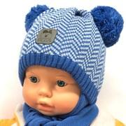 Grans комплект A984 ST шапка с утеплит.+шарф (р.42-44)