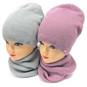 Grans комплект A970 Fbez шапка на флисе +снуд (р.52-54)