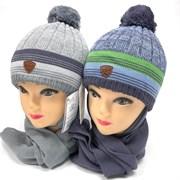 AGBO комплект 2357 Prins шапка с утеплит.+шарф (р.46-48)