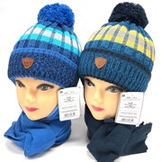 AGBO комплект 2352 Parker шапка с утеплит.+шарф (р.48-50)