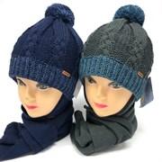 Grans комплект A 1000F шапка на флисе.+снуд (р.50-52)