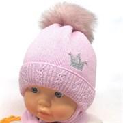 GRANS комплект A 936 ST шапка с утеплителем, подклад хлопок+ шарф (р.42-44)