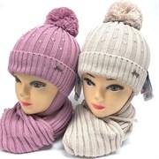 GRANS комплект A 955ST шапка с утепл. + шарф (р.48-50)