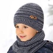 .AJS комплект 38-471 шапка подкл.флис + снуд (р.52-54)