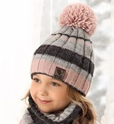 .AJS комплект 38-509 шапка подкл.флис+снуд (р.52-54)