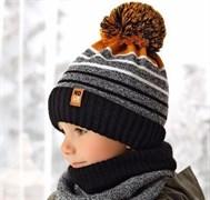 .AJS комплект 38-536 шапка подкл.флис+снуд (р.52-54)