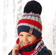 .AJS комплект 38-546 шапка подкл.флис+снуд (р.52-54)