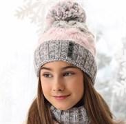 .AJS комплект 38-572 шапка подкл.флис+снуд (р.52-54)