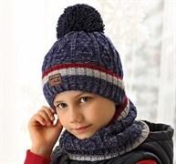 .AJS комплект 38-599 шапка подкл.флис+снуд (р.52-54)