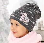 .AJS шапка 38-452 подкл.флис (р.52-54)