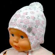 GRANS шапка N145 вязаная, подклад хлопок (р.38-40)